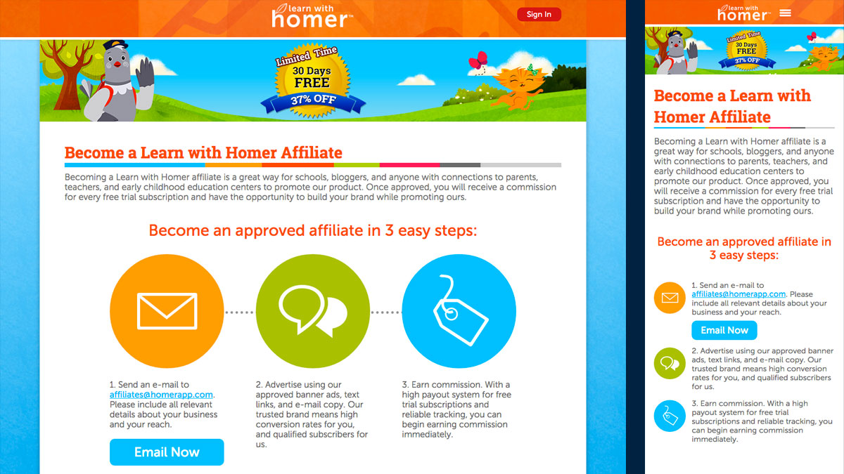 Learn with Homer Affiliates