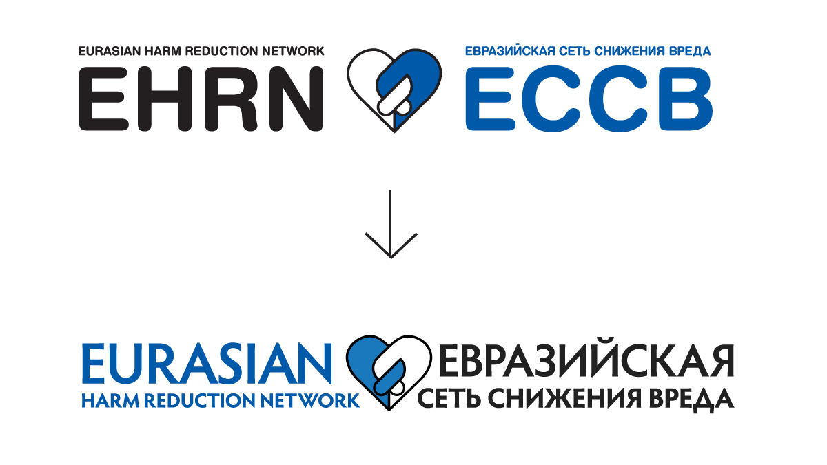 EHRN Logo Redesign - Before and After