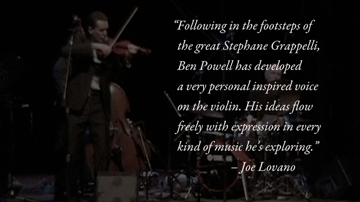 Quotes in the Ben Powell Quartet video