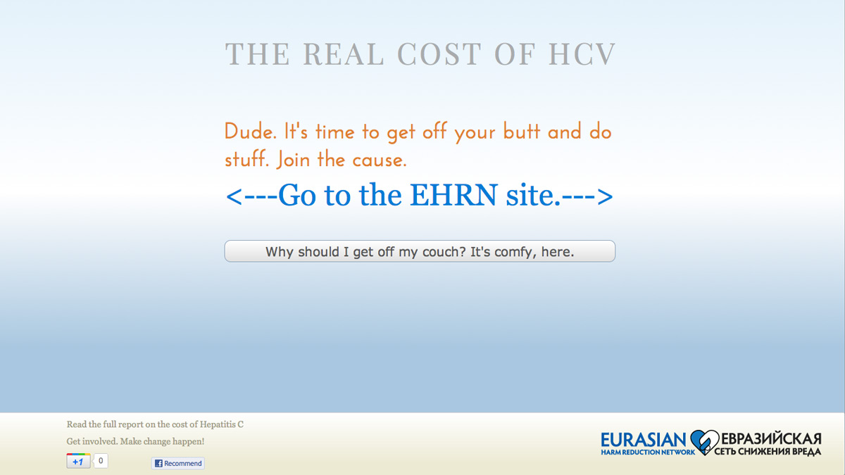 The Real Cost of HCV, Call to action