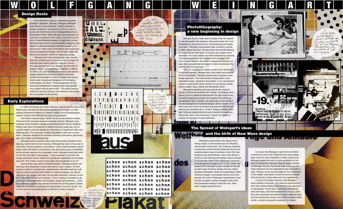 Wolfgang Weingart Magazine Spread