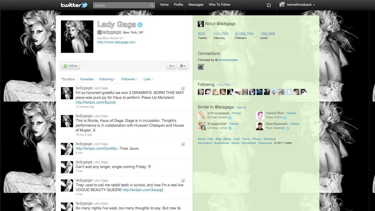 Tweet Stalker - Lady Gaga's Twitter account