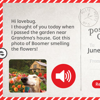 Postcard Creation: Learn with Homer App for iPad