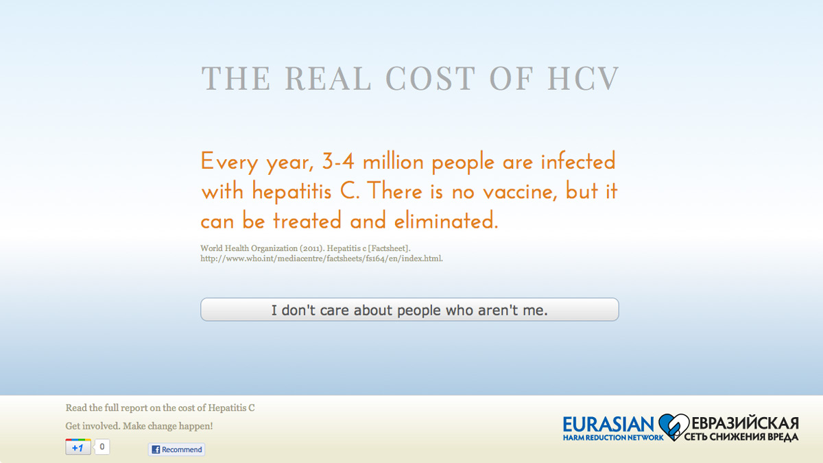 The Real Cost of HCV website