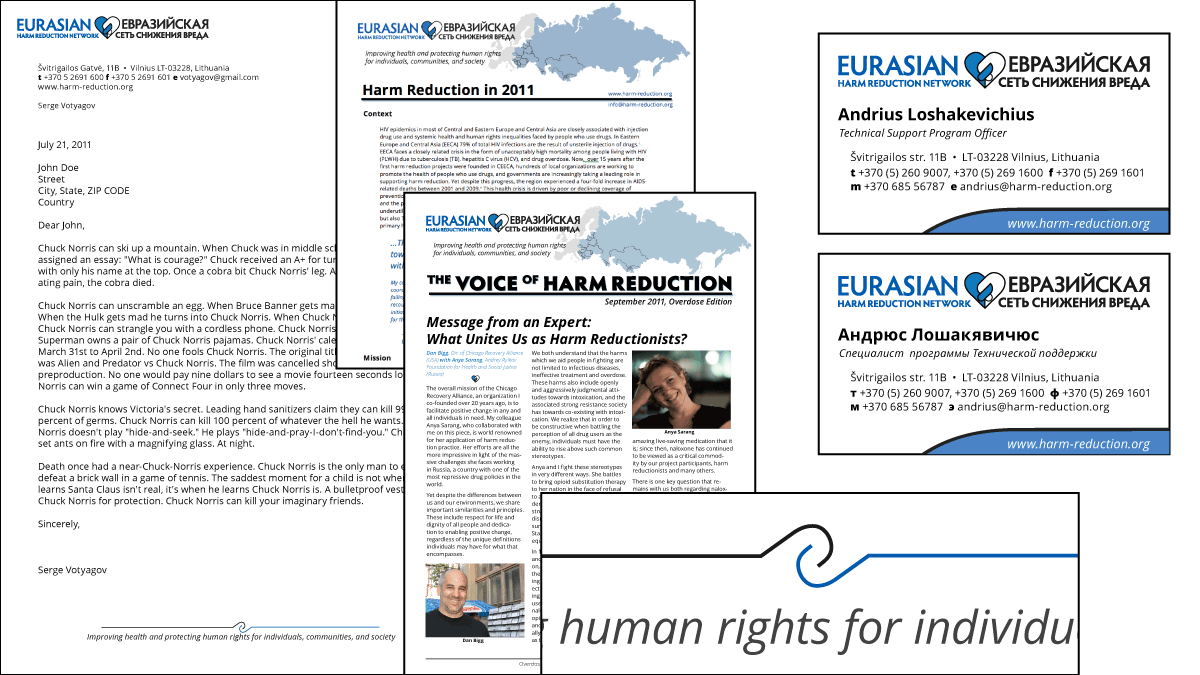 Template Documents for Eurasian Harm Reduction Network